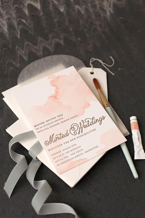 watercolor wedding invitations diy diy watercolored letterpress invites julep