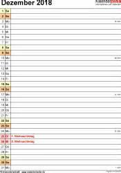 Kalender Dezember 2018 Kalender Dezember 2018 Als Excel Vorlagen