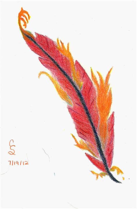 phoenix feather by cecsalyers on deviantart