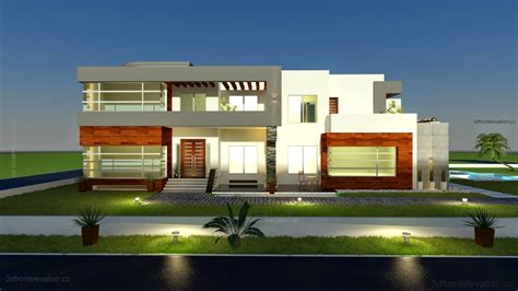 500 Square Meter | 3d front elevation com 500 square meter modern