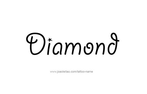 diamond tattoo with name diamond name tattoo designs