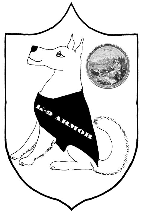free coloring pages of k 9 dog
