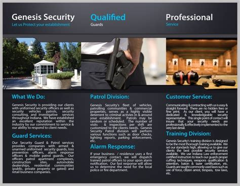 security company brochure template genesis security brochure design j646 design i