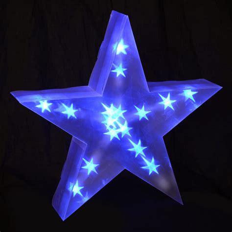 lighted christmas star decoration