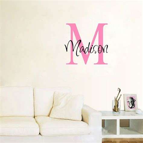 personal wall stickers wall decal name decals for walls inspiration personalized