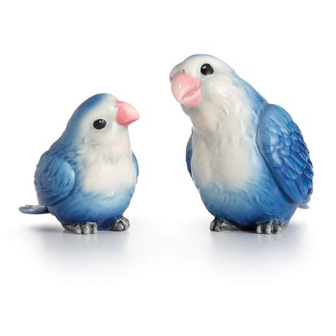 franz collection porcelain joyful bird figurine blue franz porcelain collection lovebirds figurines set of 2