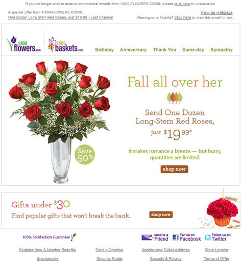 Am Inbox 1 800 Flowers Redesigns Email Template Oracle Marketing Cloud Last Chance Email Template