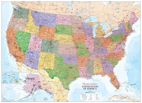 scale map of the united states united states of america wall map usa global mapping