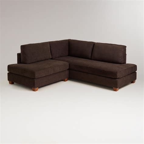 chocolate wyatt sectional sofa world market