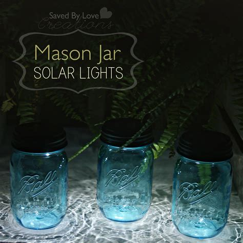 How To Make Solar Jar Lights Easy Jar Solar Lights