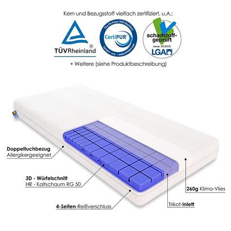 orthopädische matratze kaltschaummatratze rg 50 bestseller shop f 252 r m 246 bel und