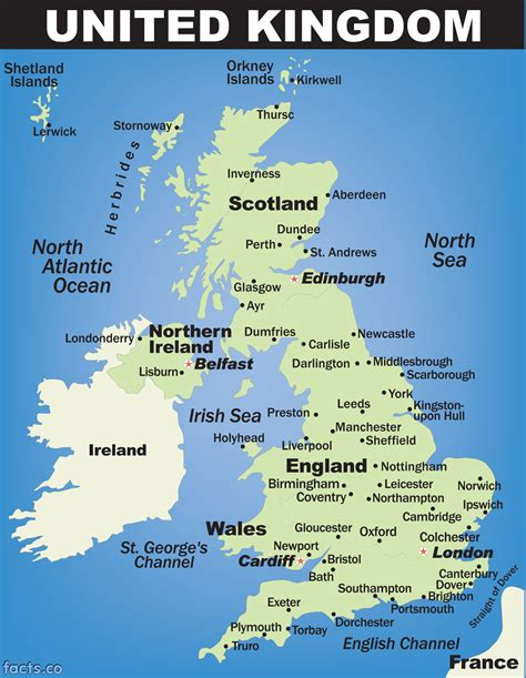 map of the united kingdom with major cities uk cities map