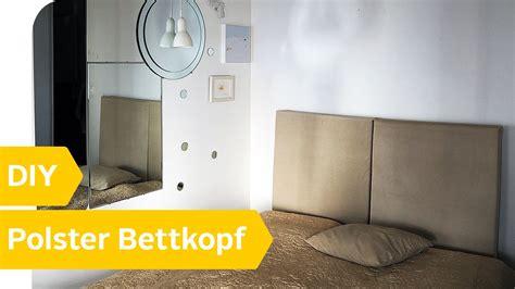 Bett Mit Polsterwand by Diy Anleitung Polster Bettkopf Selber Machen Roombeez