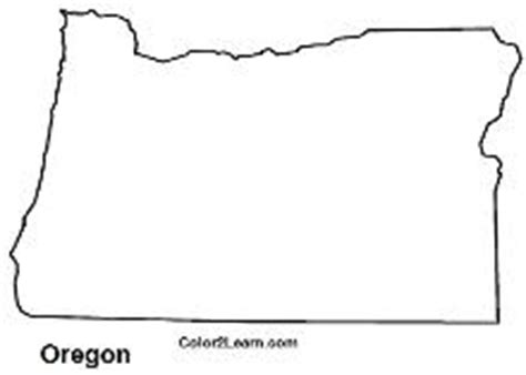 map of oregon outline state of oregon flag and map coloring pages