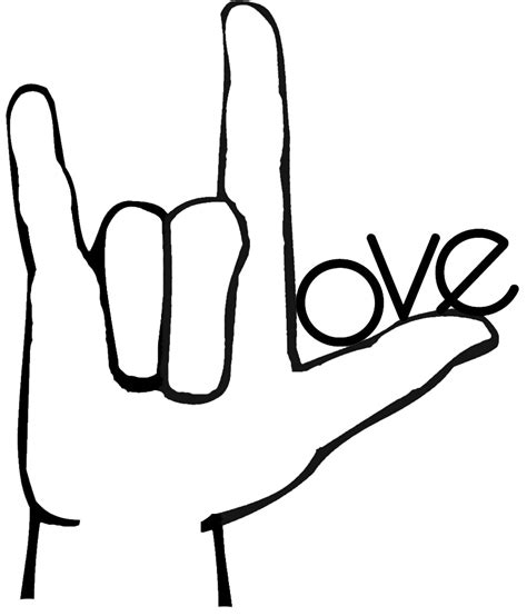 sign language i love you coloring pages sign language i love you tattoo pinterest sign