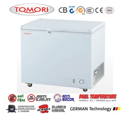 Kompresor Freezer Box tomori solid door chest freezer kulkas beku pendingin