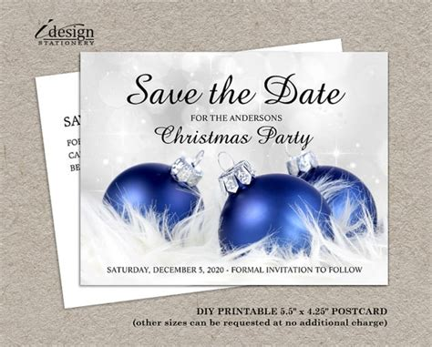Save The Date Christmas Party Template Free Invitation Template Save The Date Postcard Templates 2