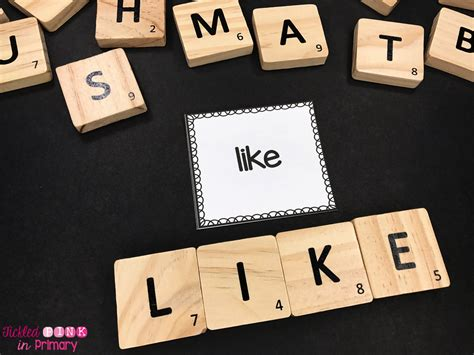 xi scrabble word tickled pink in primary 10 more ways to practice sight words
