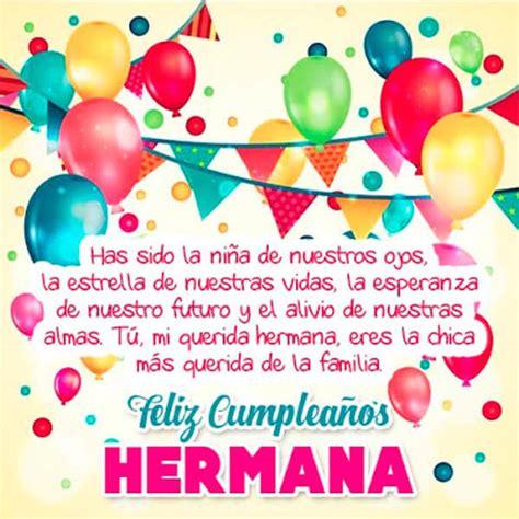 imagenes para desear feliz cumpleaños hermana especiales tarjetas de cumplea 241 os para una hermana muy