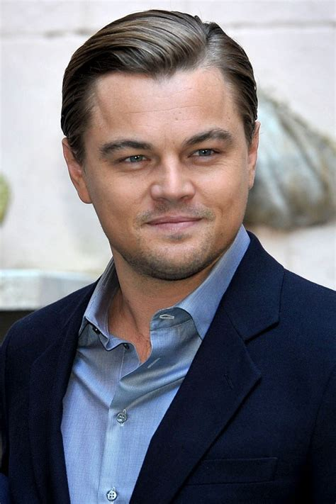 hollywood male celebrity with round face leonardo dicaprio haircut globezhair