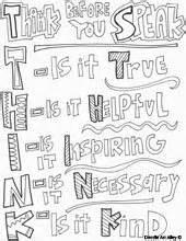 Think Before You Speak Is True It Helpful Inspiring  sketch template