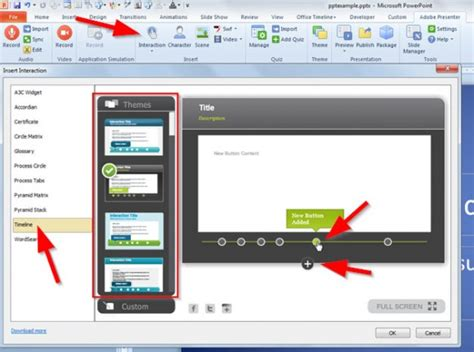 Adobe Presenter Templates make a timeline in powerpoint using adobe presenter 8