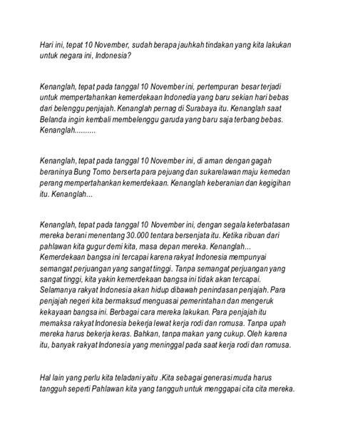 inilah isi pidato bung tomo 10 november 1945 silam tepat teks pidato kemerdekaan teks pidato kemerdekaan dalam