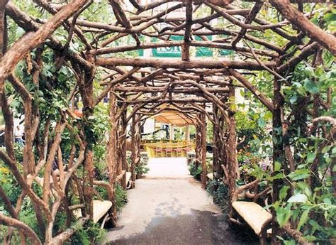 Wedding Arch Made Of Sticks by Twig Trellis Twig Pergola From Romancing The Woods Inc
