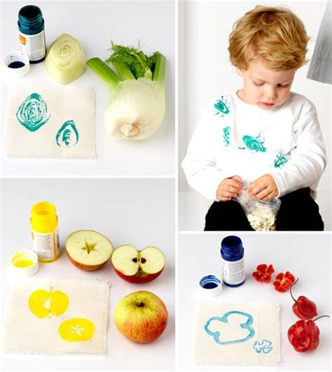 printing with fruit and vegetables 28 best images about stempelen on pinterest sts