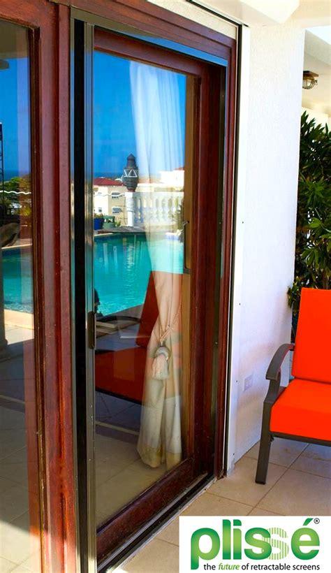New Option For Sliding Glass Door Screens The Pliss 233 Retractable Sliding Glass Doors