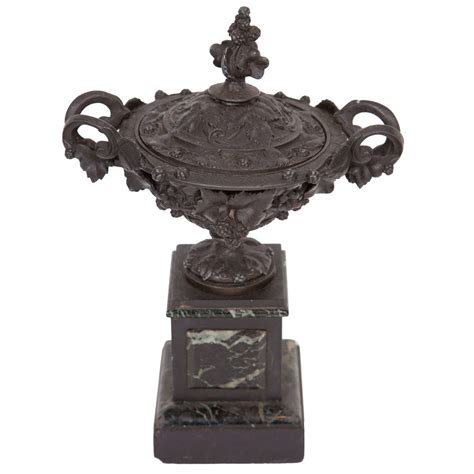 Cast Iron Urn Planters by French Bronze And Marble Urn For Sale At 1stdibs