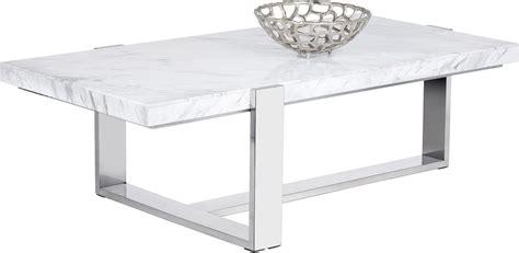 tribecca white marble rectangular coffee table from sunpan