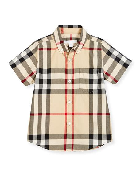 Hem Burberly Wm 006 burberry william check collar polo true navy 4y 10y
