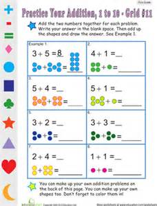 Count the dots single digit addition 11 worksheet education com
