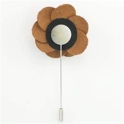 Lapel Pin Brown brown flower lapel pin