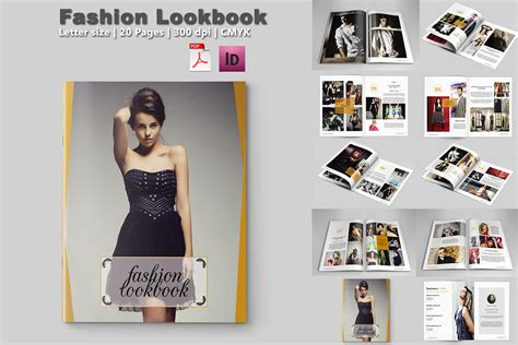 fashion lookbook template 20 pages on behance