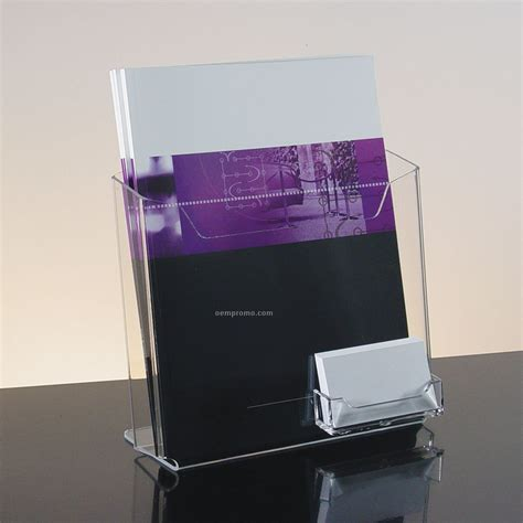 Harga Promo Clear Holder 40 Pocket acrylic literature holder with business card pocket china