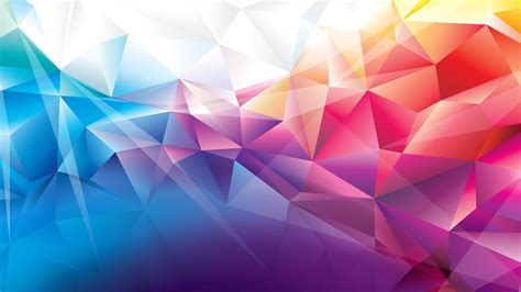 colorful colors colorful polygons hd abstract 4k wallpapers images