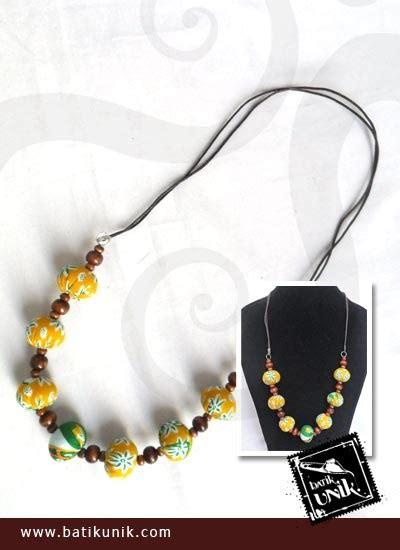 kalung batik etnik tali warna kuning kalung etnik