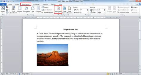 How To Add A Watermark To A Word Document