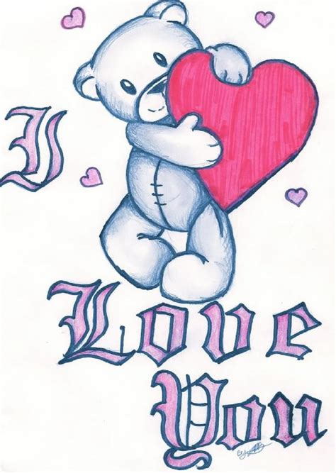 i love you drawings with heart www pixshark com images
