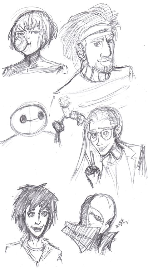 Big 6 Sketches by Big 6 Sketches By Constantm0tion