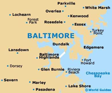 map usa baltimore baltimore travel guide and tourist information baltimore