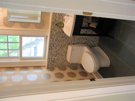 half bathroom design ideas stone mosaic half bath in meridian kessler wrightworks llc