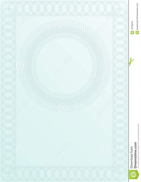 blank certificate background stock photography image