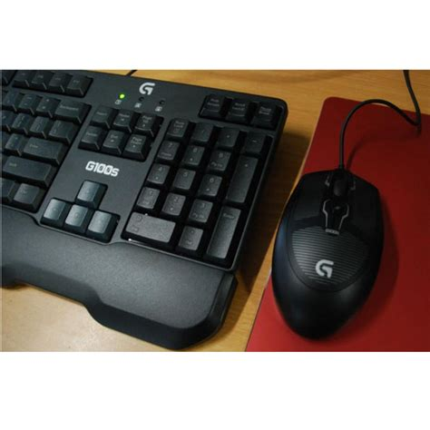Keyboard Logitech G100s logitech g100s gaming combo keyboard and mouse black