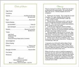 Double Sided Wedding Programs Sample Funeral Program Memorial Booklet Samples Funeral Programs