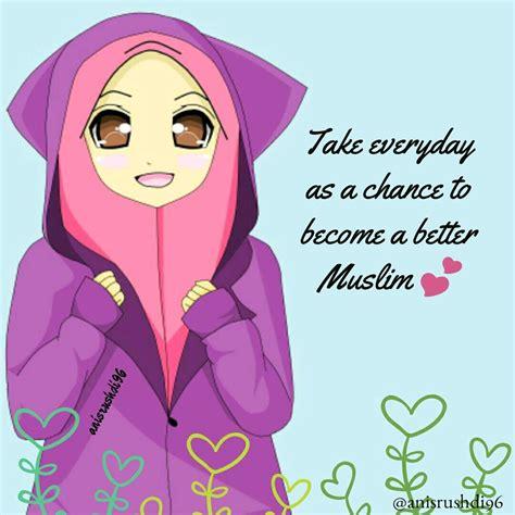 cute muslimah muslim cartoons images islamic