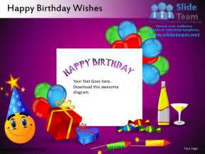 birthday card powerpoint template happy birthday wishes powerpoint ppt slides