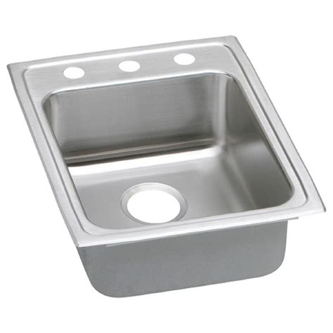 home depot kitchen sinks drop in elkay lustertone drop in stainless steel 17 in 2 hole